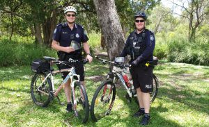 Queensland Police pose in Geebung